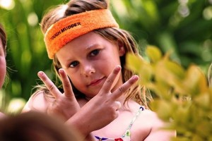 She was very proud to earn her Tough Mudder headband after completing her Birthday Obstacle Course Race!